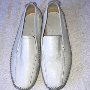 NWOT. Men's white slip on shoes